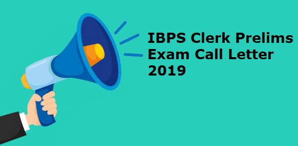 IBPS Clerk Call Letter