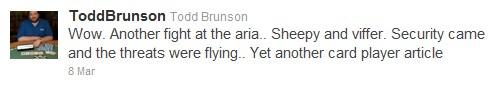 Todd Brunson Tweets Peat v Skeiky Fight