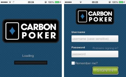Carbon Poker Mobile App