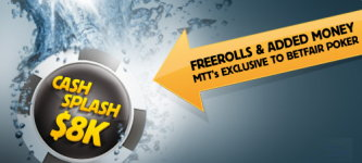 Cash splash $8,000 Betfair promotion.