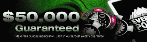 Everest Poker $50,000 Guaranteed