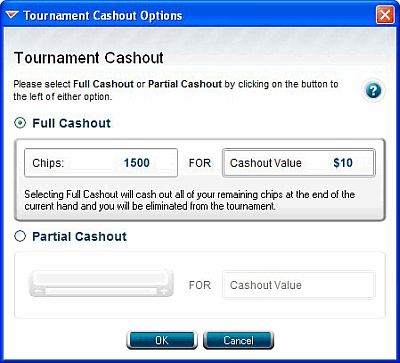 Full Tilt Cashout Tournament Options