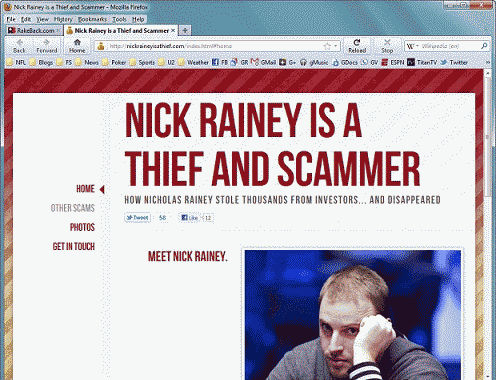 Nick Rainey is a Thief Website