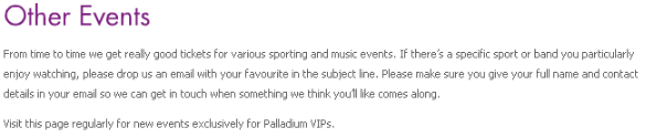 Party Poker Palladium VIP Event Ticket Awards