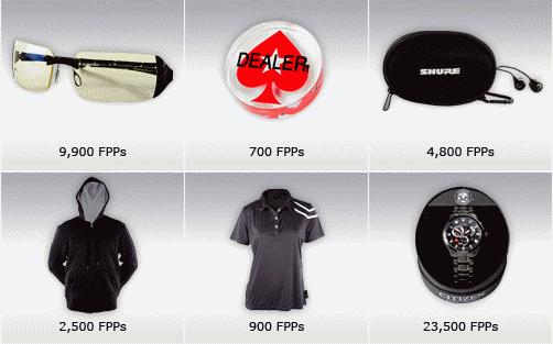 PokerStars VIP Club Blast Off FPP Store Items
