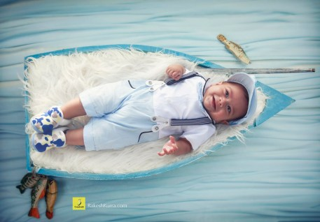 boy boat photoshoot