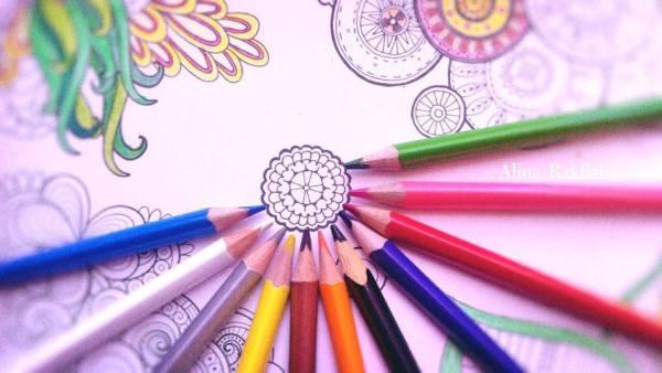 crayons de couleur coloriage dessin fleurs plantes