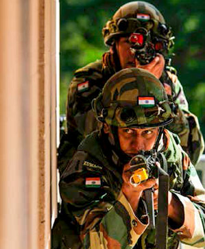 Indian Army soldiers during Yudh Abhyas;