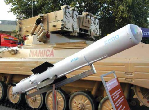 Nag missile with the NAMICA