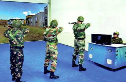 training personnel in tackling enemy