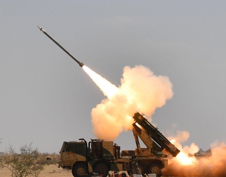 Guided Pinaka Missile