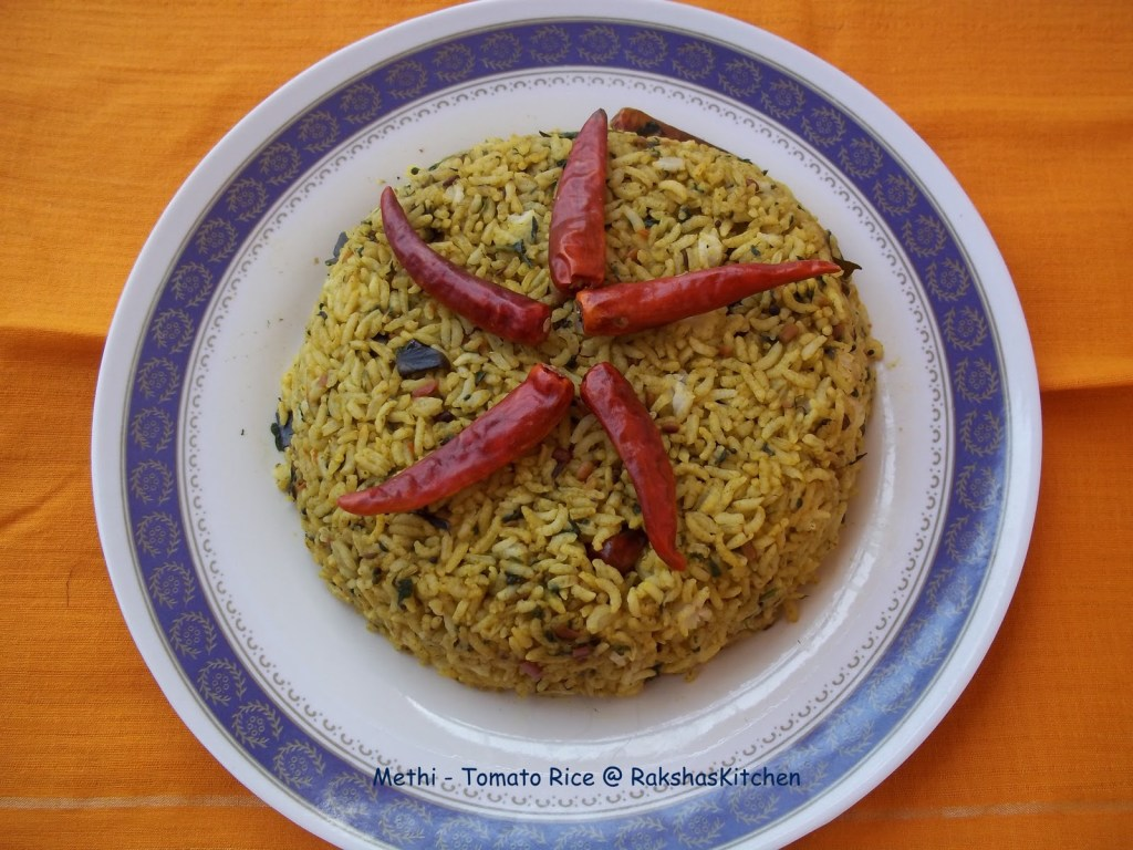 Methi - Tomato Rice