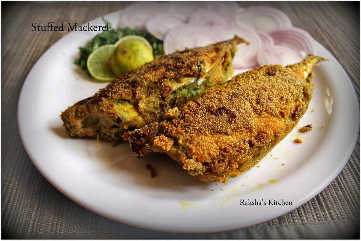 Stuffed Mackerel | Bharillo Bangdo - Step-By-Step with Pictures