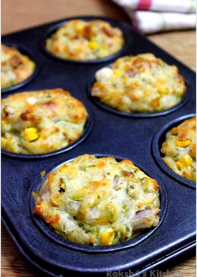 Savory Veggie Corn Cheese Muffins