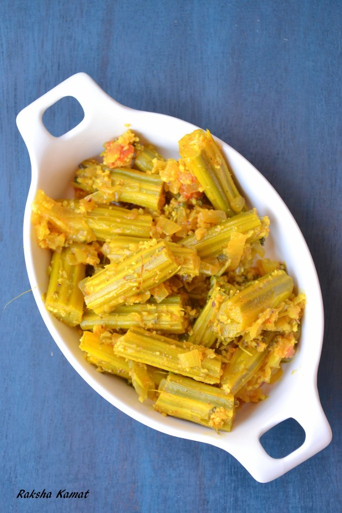 Sangachi Bhaji, Goan drumstick subzi, sango, drumstick curry, drumstick stir fry