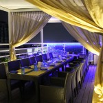 skylit rooftop restaurant