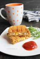 Grilled corn cheese sandwich recipe
