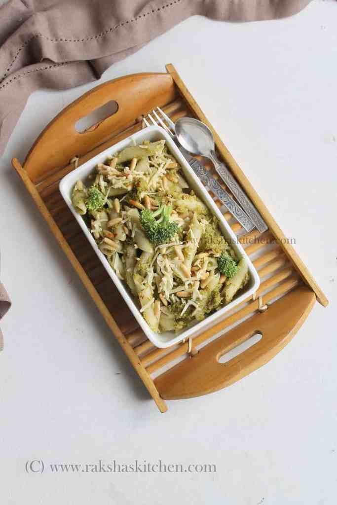 Broccoli Pesto Pasta With Pine Nuts, Broccoli pesto pasta, Broccoli pasta, pesto pasta, broccoli recipe