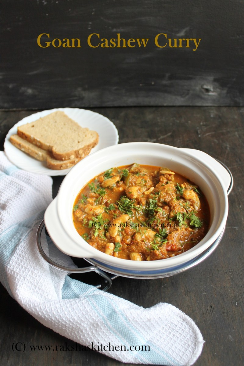 Goan Cashew Curry | Kaju Tonak | Cashew Masala