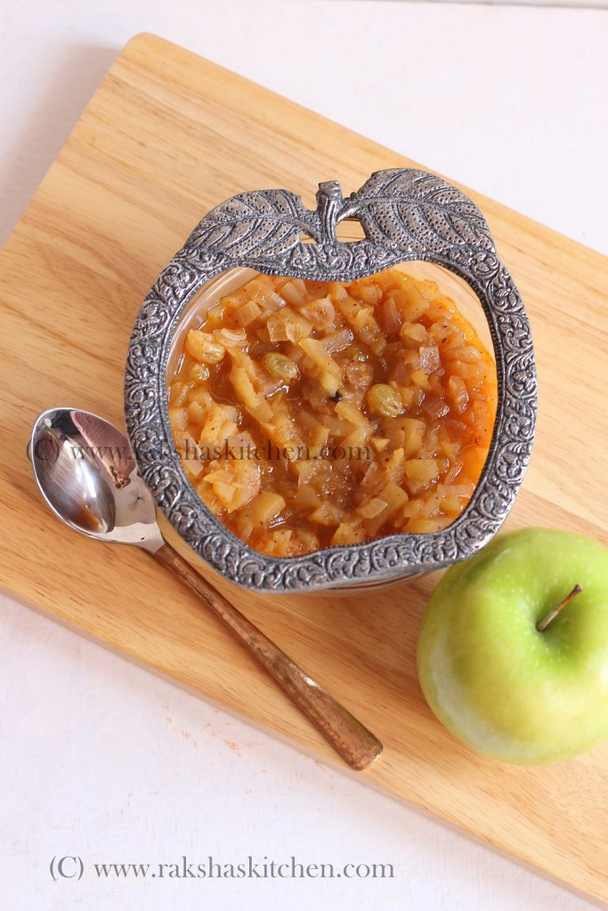 Sweet And Spicy Apple Chutney