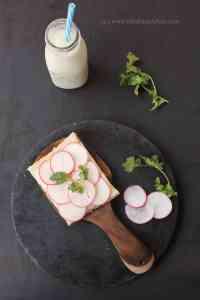 Open Faced Radish Sandwich