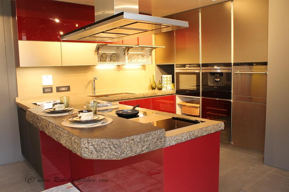 Italian modular kitchens by stosa cucine store launch in for Italian modular kitchen