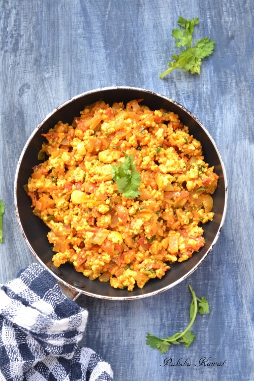 Paneer Bhurji, Spicy Cottage Cheese Crumble