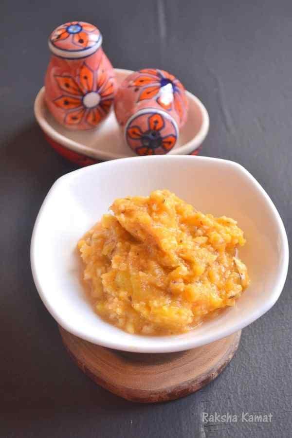 Pumpkin Bharta , Doodhi Bharta, Doodyache bharta, pumpkin recipe
