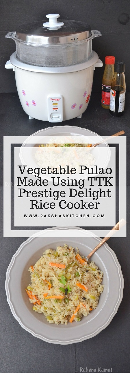 Vegetable Pulao Made Using Rice cooker