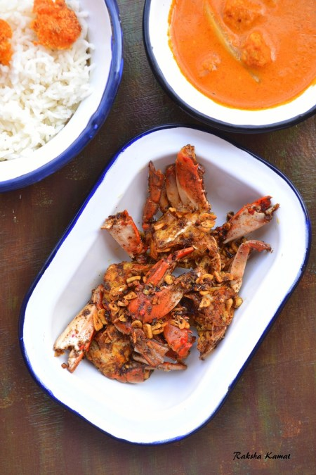 butter garlic crabs, crabs recipe