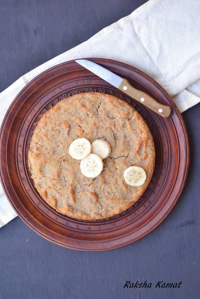 Vegan Banana Semolina Cake, Vegan semolina banana cake, banana cake vegan, semolina cake, sooji cake with banana, vegan cake