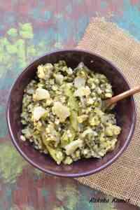 radish recipes, No onion no garlic radish subzi, radish greens subzi, radish and moong dal subzi