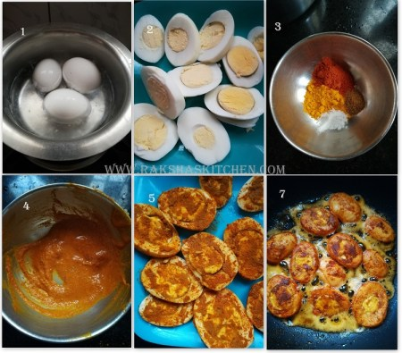 step by step pictures to make egg starter recipe