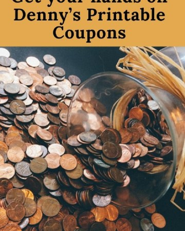 Get your hands on Denny's Printable Coupons