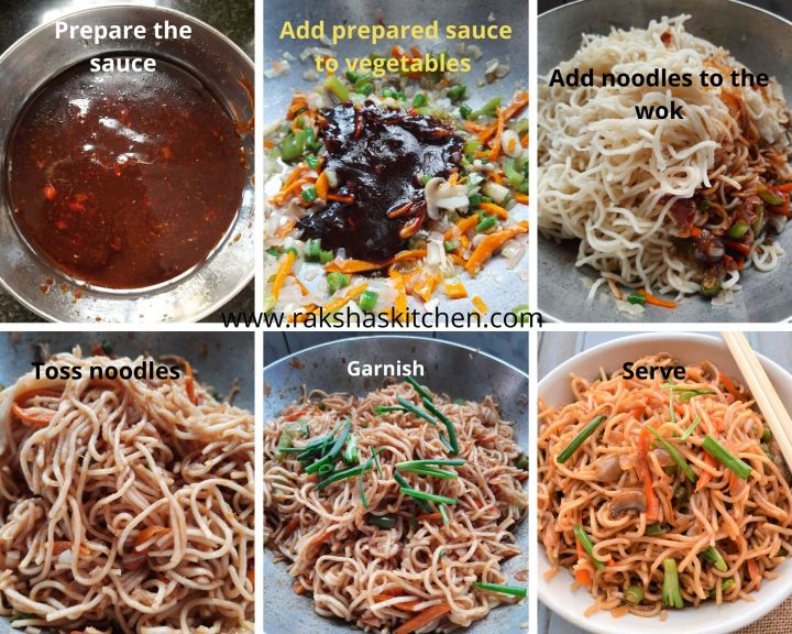 Steps to make Egg noodles and sauce