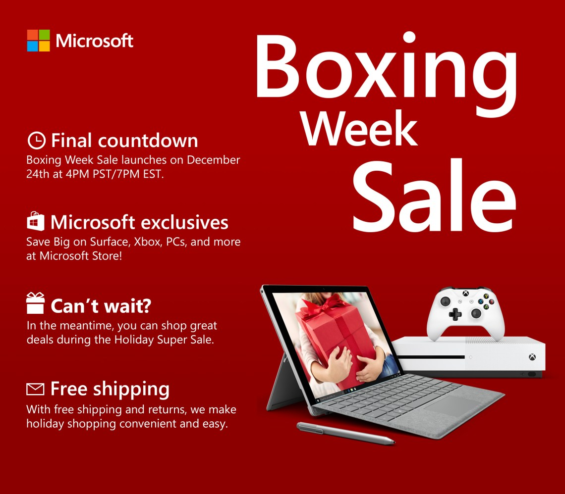 Boxing Week Deals Reveal with Microsoft Canada and Rakuten.ca