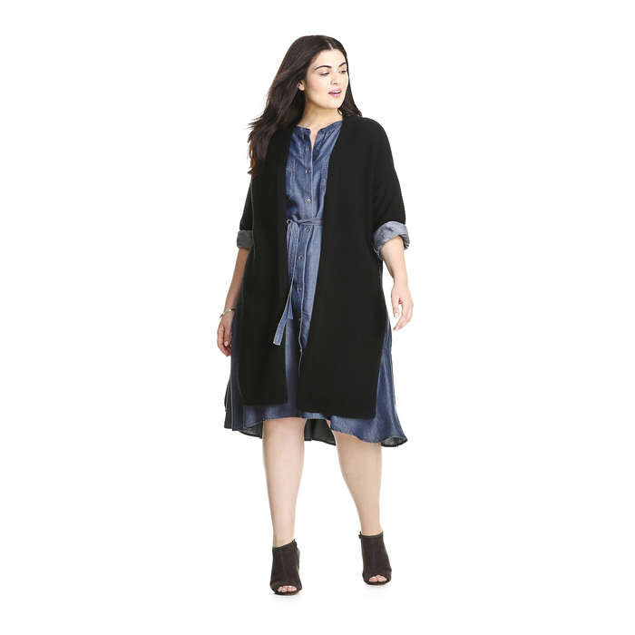 Joe Fresh Extended Sizes Open Cardigan for Fall