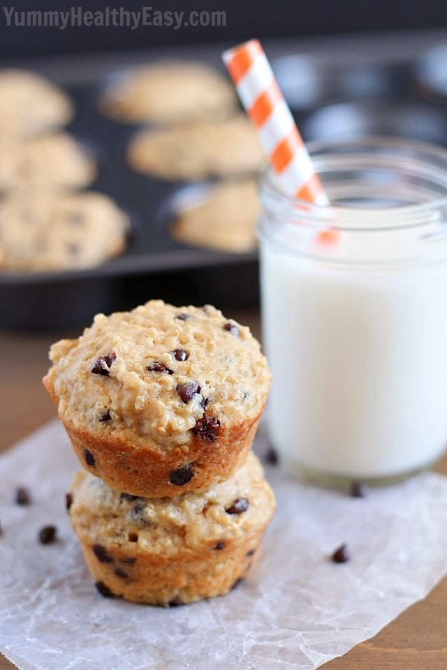 Yummy Healthy Easy Chocolate Chip Quinoa Muffins