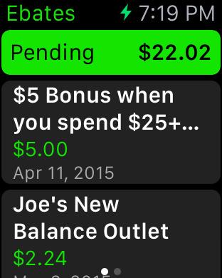 Announcing the Ebates Apple Watch App 1