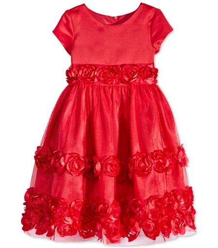Red Bonaz Tiered Dress
