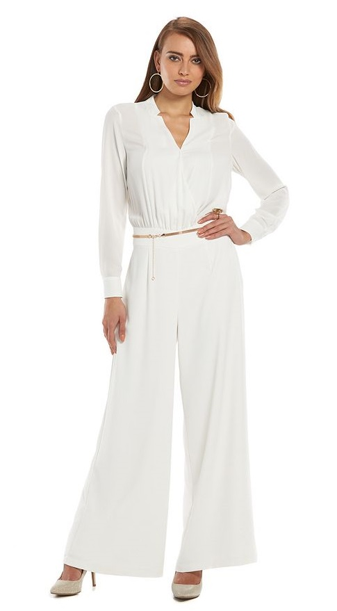 Jennifer Lopez Wide-Leg Jumpsuit