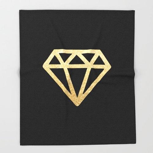 Gold Diamond Throw Blanket