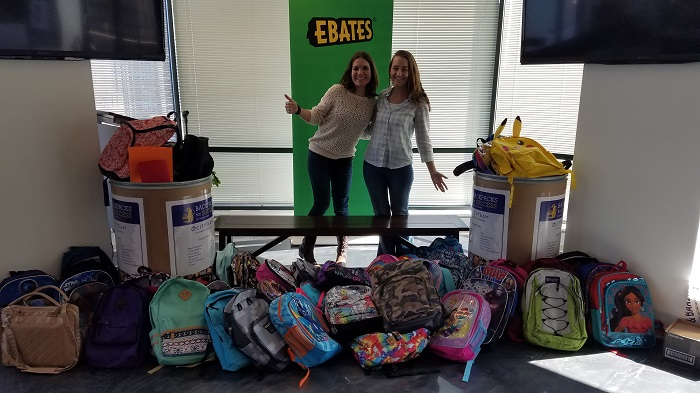 Ebates CARES backpack drive