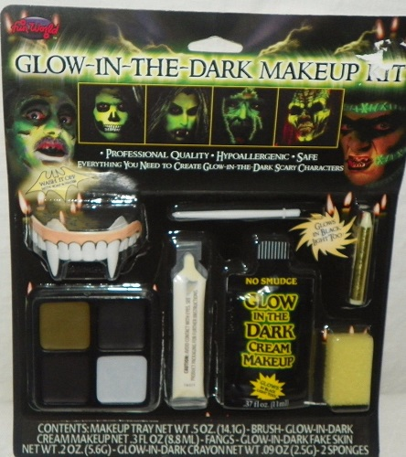 Glow-In-The-Dark Makeup Kit Halloween Fun World New in Package