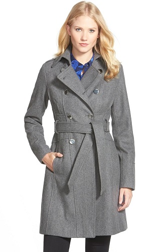 gray womens trench coat