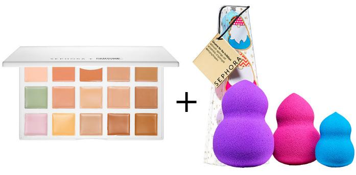 Color correcting pallet and sponge set