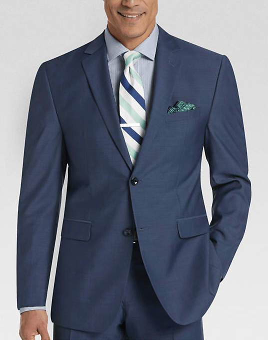 navy blue suit men's wearhouse