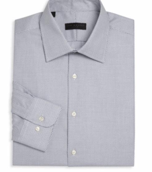Ike Behar Geometric Regular-Fit Dress Shirt