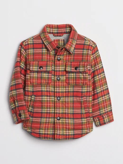 Gap Toddler Flannel Shirt Jacket