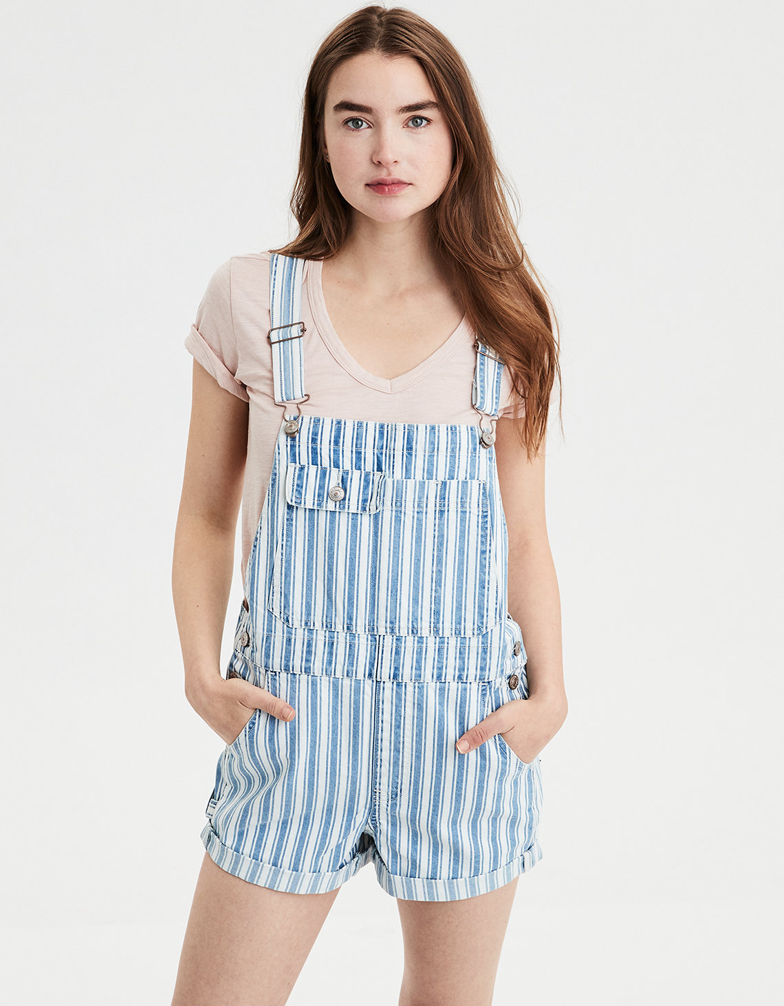 AE 90S BOYFRIEND DENIM SHORT OVERALL